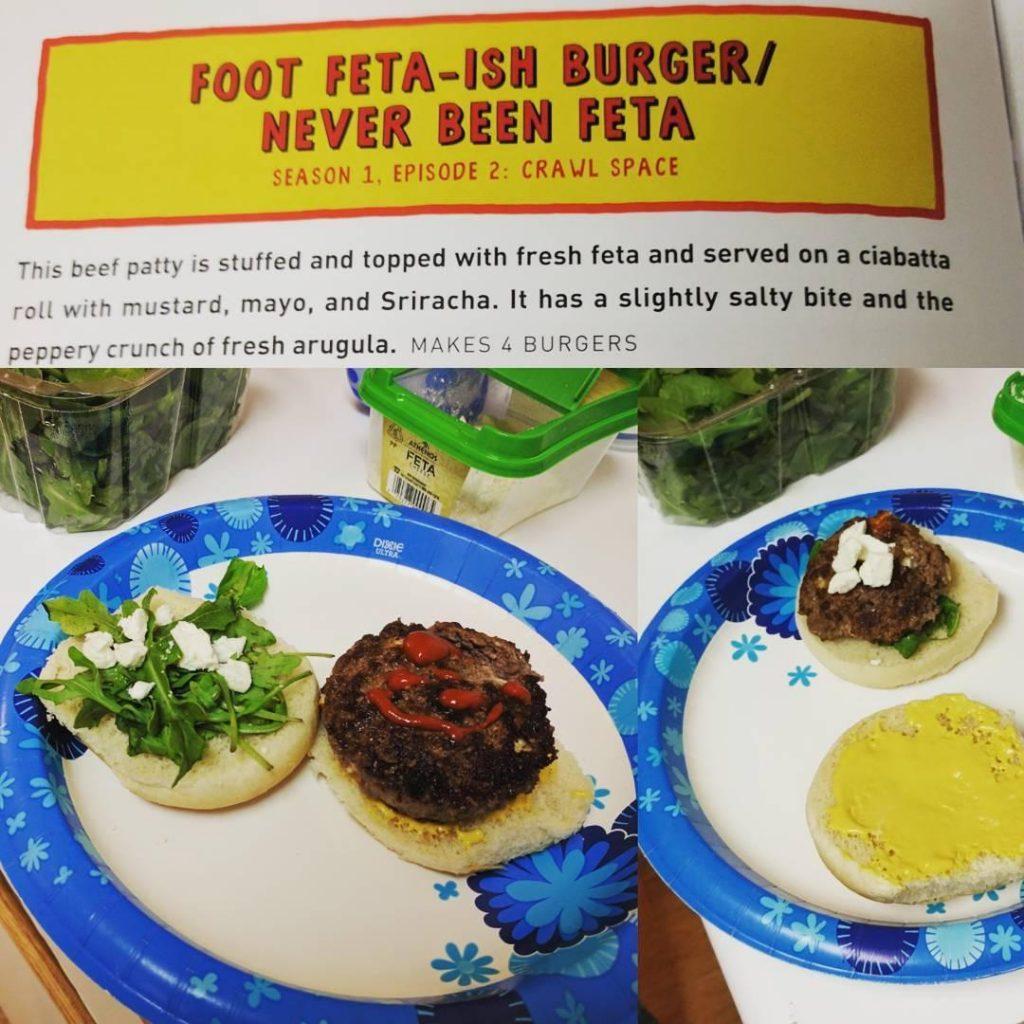foot feta-ish burger